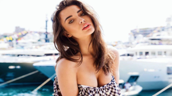 HOT! Amy Jackson heats it up in Monaco in a checked swimsuit
