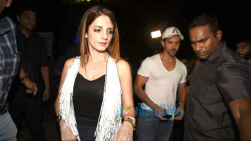 Hrithik Roshan and Sussanne Roshan snapped post their dinner at Hakassan