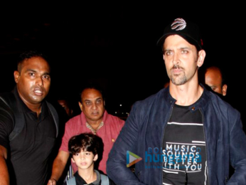 Hrithik Roshan snapped taking his kids on holiday to London