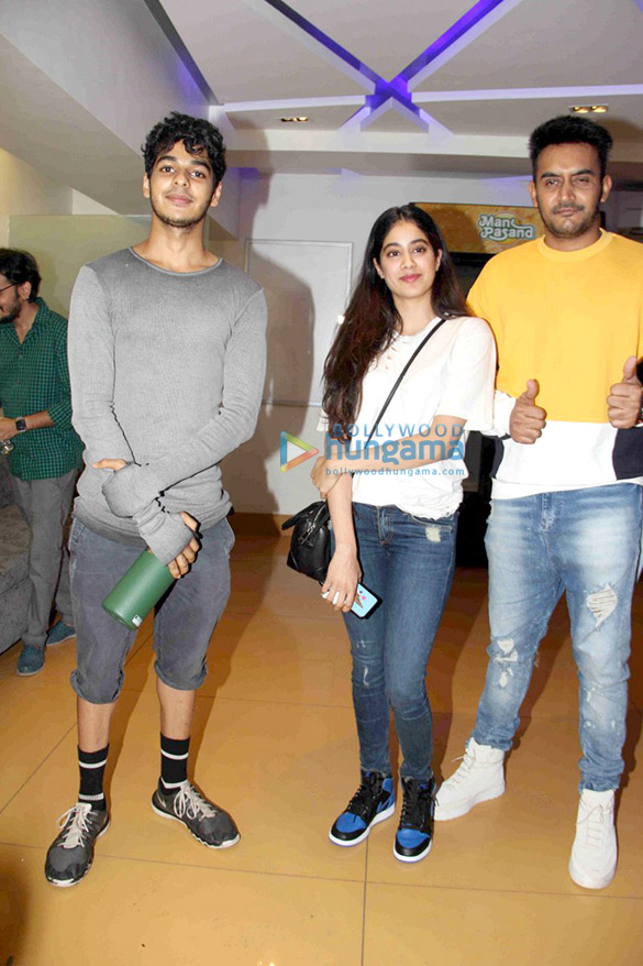 Jhanvi Kapoor and Ishaan snapped at the special screening of 'Baby Driver'