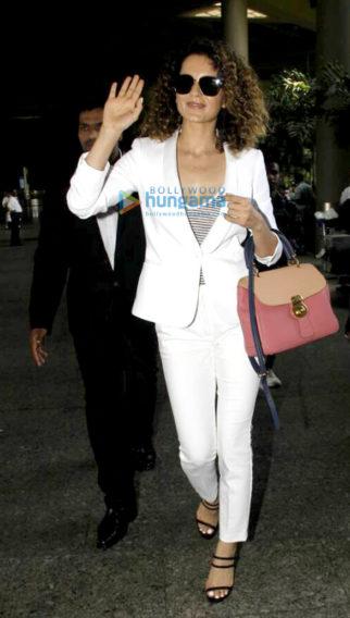 Kangna Ranaut arrives from London