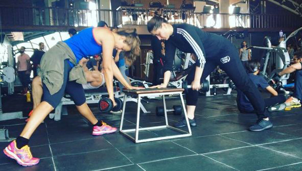 Kareena Kapoor Khan and Amrita Arora sweat it out at the gym-1