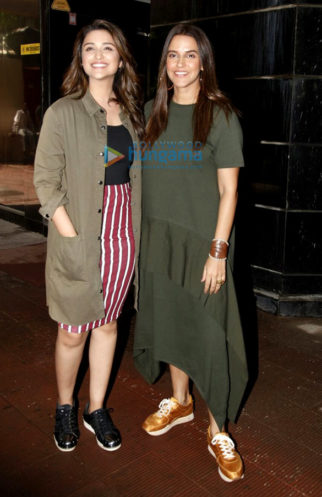Parineeti Chopra and Neha Dhupia shoot for the 'No Filter Neha' show