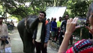 Ranbir Kapoor Plays With A CUTE Elephant In This Jagga Jasoos Video