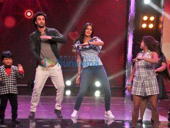 Ranbir Kapoor and Katrina Kaif promote their most awaited film Jagga Jasoos on the sets of the singing reality show 'Sa Re Ga Ma Pa Lil Champ 2017'