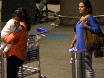 Rani Mukherji & Adira return from their holidays in Dubai