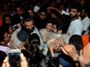 Ranveer Singh and Jacqueline Fernandez snapped at Vivek Kothari and Dimpal's sangeet ceremony