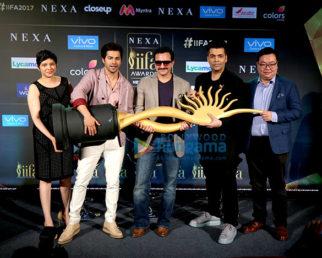 Saif Ali Khan, Karan Johar & Varun Dhawan at the press conference of 'IIFA Awards 2017'