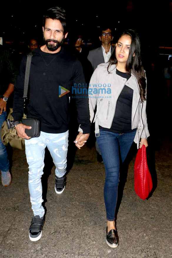 Shahid Kapoor and Mira Rajput snapped returning from London