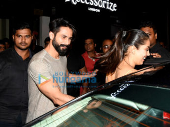 Shahid and Mira Rajput snapped post dinner at Bastian in Bandra