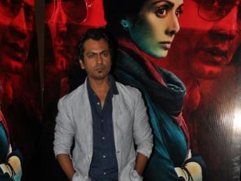 Sridevi, Akshaye Khanna and Nawazuddin Siddiqui snapped promoting their film 'Mom'
