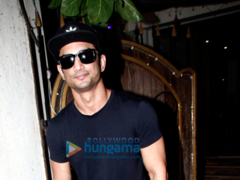 Sushant Singh Rajput snapped post his spa sessions at Myrah in Juhu