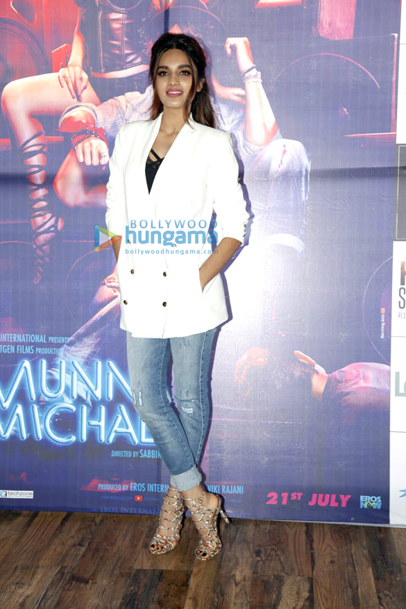 Tiger Shroff and Nidhhi Agerwal promote their film 'Munna Michael' in Pune