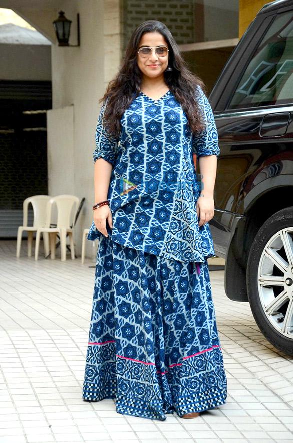 Vidya Balan snapped post dubbing in Bandra