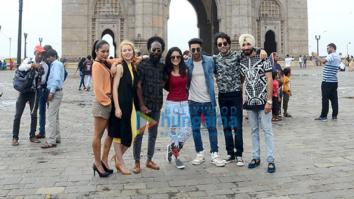 Aadar Jain & Anya Singh launch 'I Am India' song from 'Qaidi Band' at Gateway of India