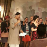 Akshay Kumar and Mouni Roy in traditional avatars while shooting for Gold -1