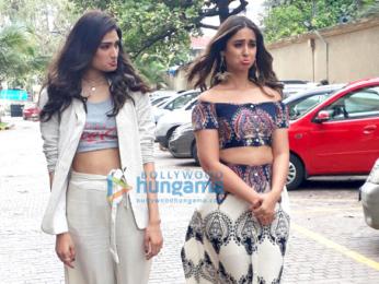 Arjun Kapoor, Ileana and Athiya Shetty snapped promoting their film Mubarakan