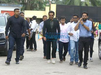 Arjun Kapoor and Anil Kapoor snapped promoting their film Mubarakan