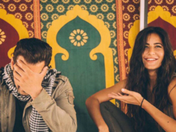 CUTE Salman Khan hides his face blushing with Katrina Kaif on sets of Tiger Zinda Hai