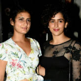 Dangal girls Fatima Sana Shaikh and Sanya Malhotra snapped post dinner in Bandra