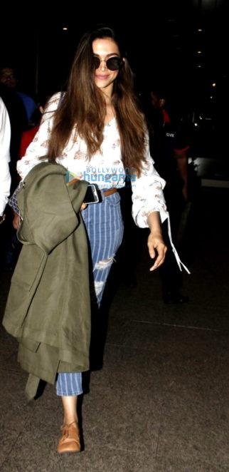 Deepika Padukone arrives from Bangalore