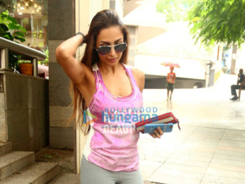 Malaika Arora snapped post her salon session in Bandra