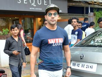 Patralekha and Rajkumar Rao snapped at Sequel in Bandra