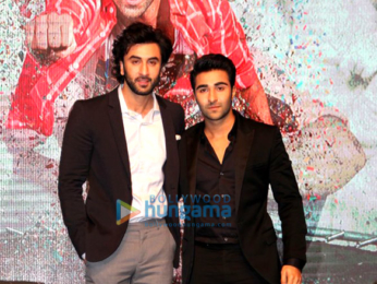 Ranbir Kapoor and Anushka Sharma launch Aadar Jain and Anya Singh at Yashraj Films' media meet
