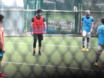 Ranbir Kapoor snapped at football practice