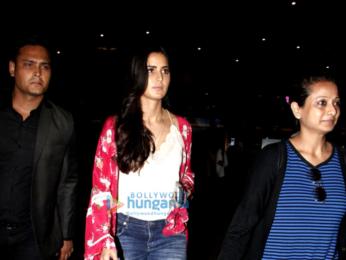 Ranbir Kapoor and Katrina Kaif arrive in Mumbai after promoting their film 'Jagga Jasoos' in Delhi