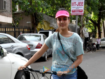 Rhea Chakraborty snapped taking a walk in Bandra