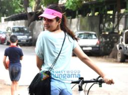 Rhea Chakraborty snapped taking a walk in Bandra
