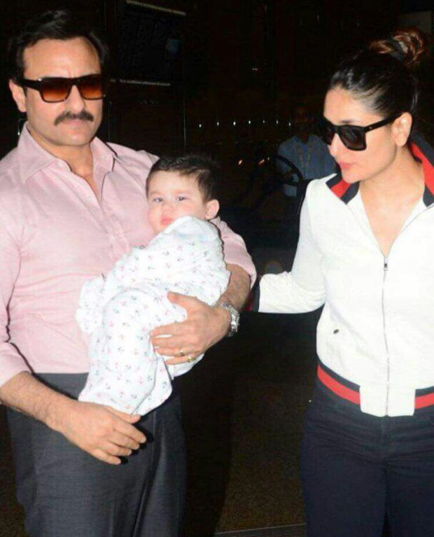 Saif Ali Khan with Kareena Kapoor Khan and Taimur Khan is the cutest thing you will see on the internet today!