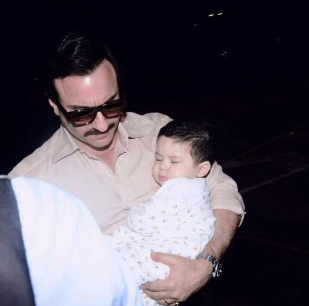 Saif Ali Khan with Kareena Kapoor Khan and Taimur Khan is the cutest thing you will see on the internet today!1