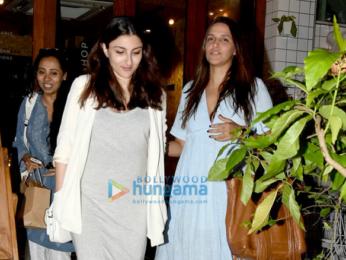 Soha Ali Khan and Neha Dhupia snapped in Bandra