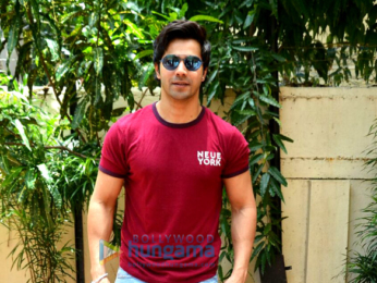 Varun Dhawan snapped on sets of the No Filter Neha show