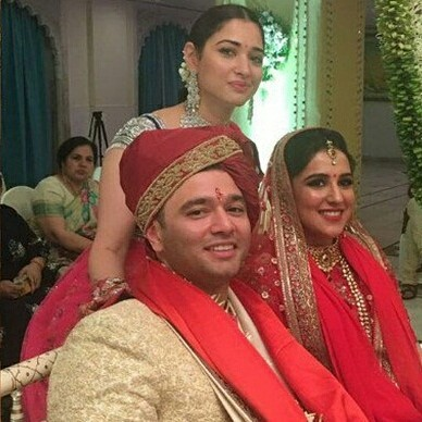 WOW! Tamannaah Bhatia looks gorgeous at her brother's wedding-1