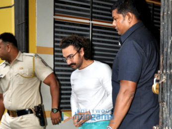 Aamir Khan snapped post dubbing in Andheri