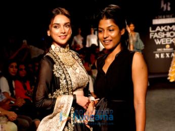 Aditi Rao Hydari walks for Jayanti Reddy at Lakme Fashion Week 2017