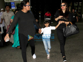 Aishwarya Rai Bachchan and Aaradhya Bachchan snapped at the airport