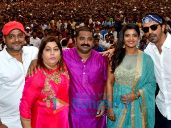 Arjun Rampal and Aishwarya Rajesh promote 'Daddy' at Dahi Handi Celebrations