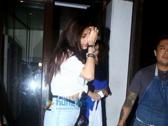 Athiya Shetty and Anshula Kapoor snapped post dinner at Bastian, Bandra