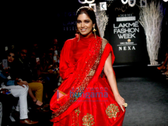 Bhumi Pednekar walks for Rucera at Lakme Fashion Week 2017