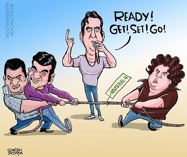 Bollywood Toons Sajid-Farhad split and Housefull4!