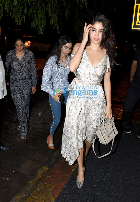 Boney Kapoor, Jahnvi Kapoor and Sonu Sood snapped attending Sridevi's birthday bash at Arth in Bandra