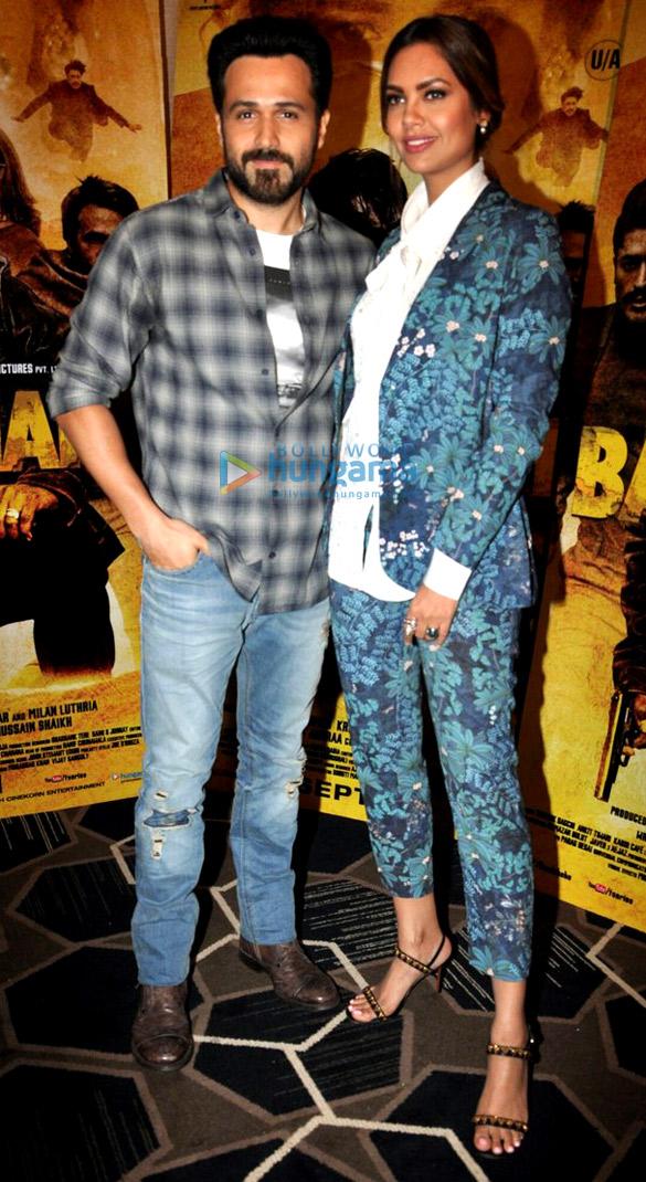 Emraan Hashmi and Esha Gupta snapped during 'Baadshaho' promotions