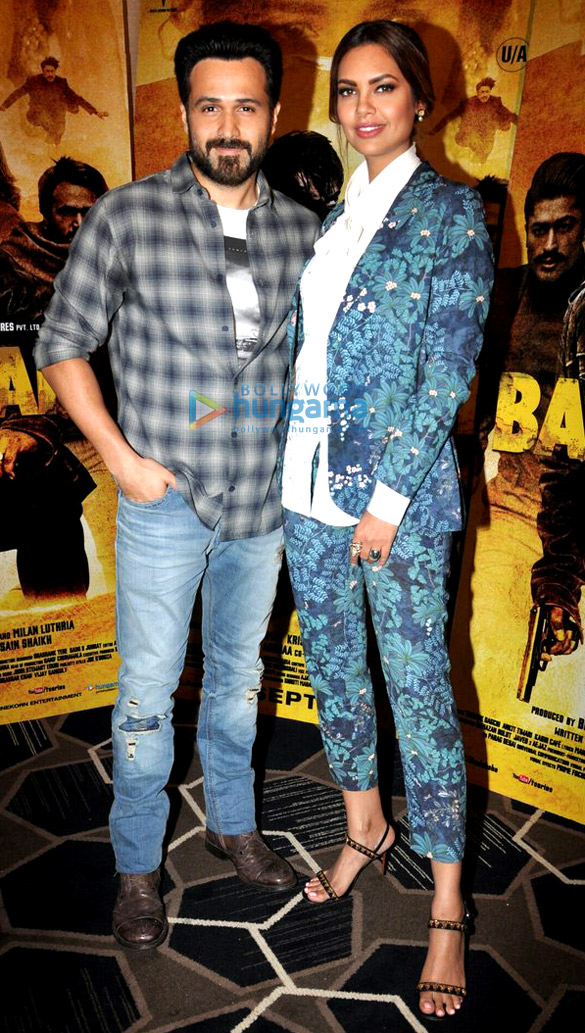 Emraan Hashmi and Esha Gupta snapped during 'Baadshaho' promotions
