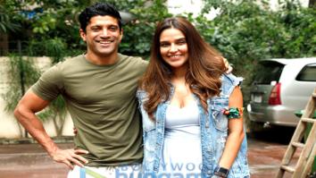 Farhan Akhtar shoots with Neha Dhupia for No Filter Neha