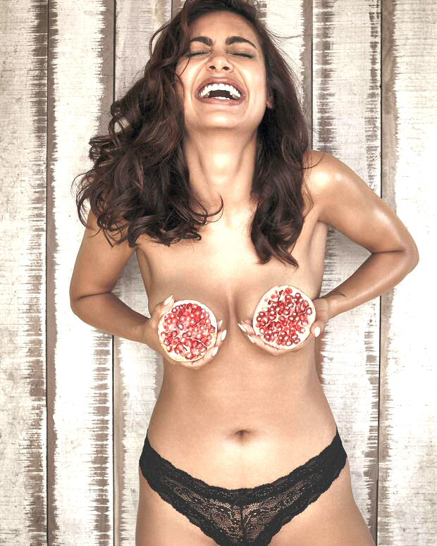 HOT! Esha Gupta's topless mantra for fitness