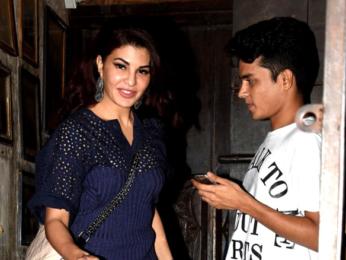 Jacqueline Fernandez snapped post dinner at Pali Bhavan